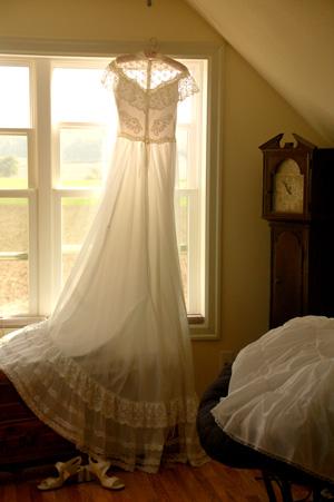 Heirloom wedding dress